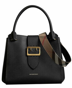 624e5977256a Image is loading Burberry-The-Medium-Buckle-Tote-in-Grainy-Leather-