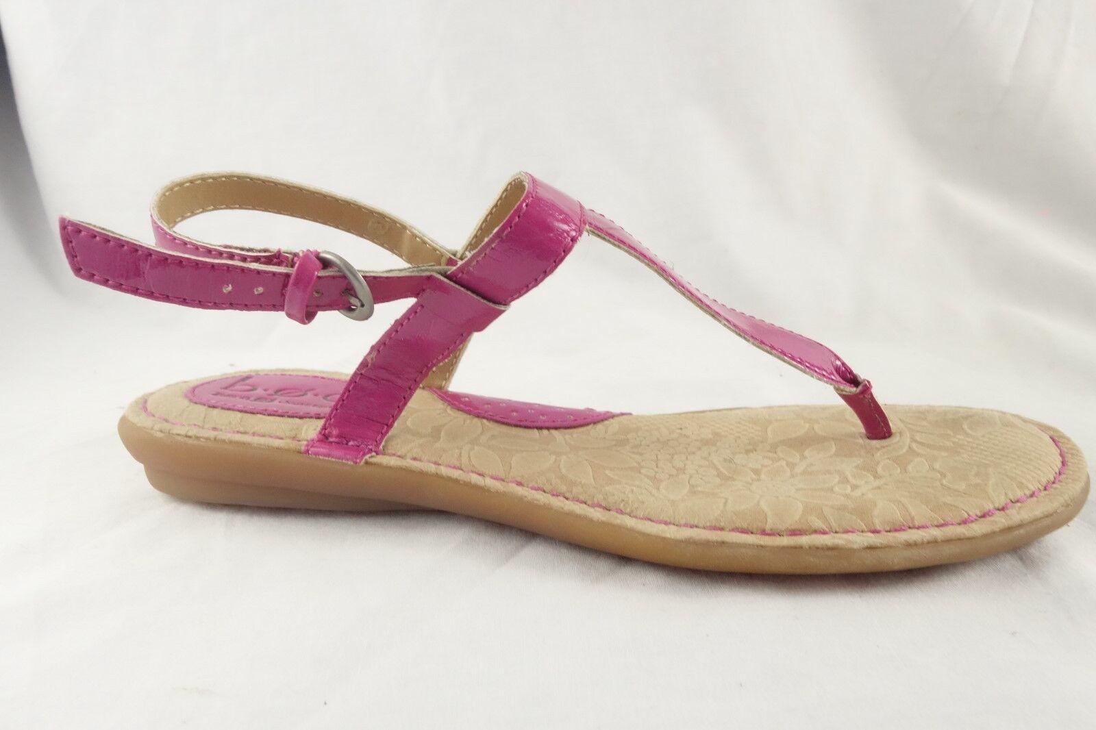Born B.O.C Pink Thong Flip Flop Sandals Flats shoes Women's 8 39