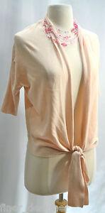 S Maglione davanti lavorato Blush Corto maglia sottile Republic rosa Cardigan Cravatta Banana Sz aderente a RB1q6cxFAw