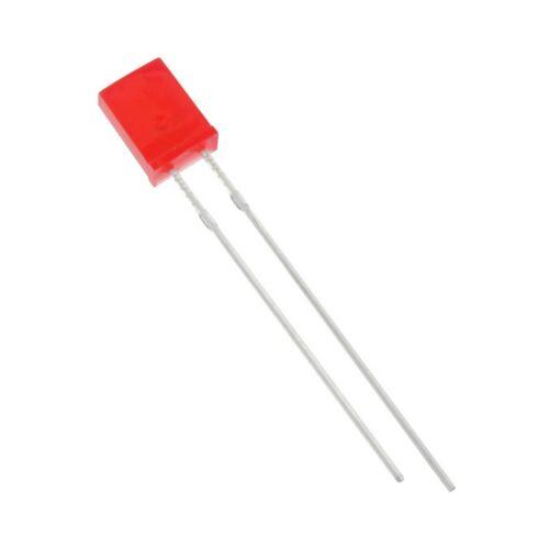 25 huiyuan LED 2534r1d-khb-c LEDs rectangular 2x5mm rojo difuso 200mcd 858889