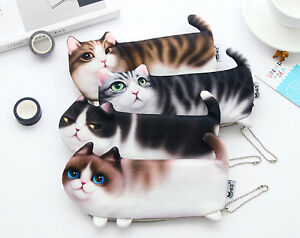 Cat-Pet-Fluffy-Quality-Toy-Novelty-Cute-Pencil-Case-Cosmetic-Pouch-Coins-Bag