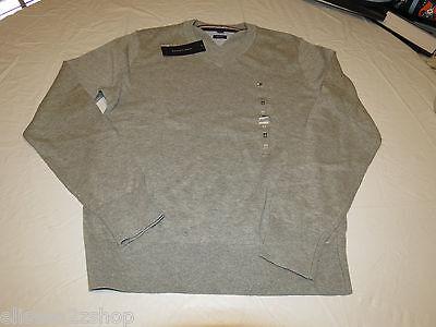 Mens Tommy Hilfiger long sleeve sweater shirt  Pima Cotton 7864540 grey 004 XXL