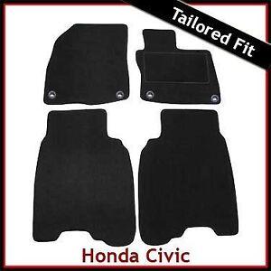 HONDA-CIVIC-TYPE-R-Facelift-Mk8-2009-2011-Tailored-Carpet-Car-Mats-BLACK