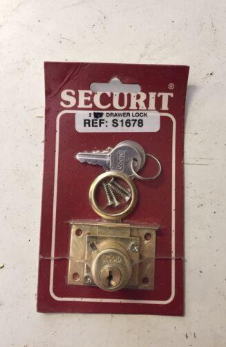 "Securit Brassed Metal Drawer Cupboard Cabinet  Door Lock 2""-50mm EB"