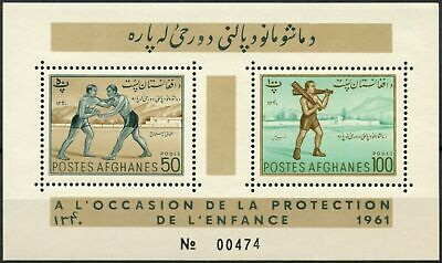 Stamps Reliable Afghanistan 1961 Child Welfare Sports & Games Mnh M/s #d90125