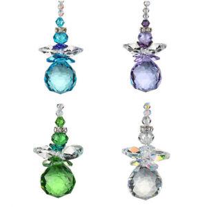 Crystal-Suncatcher-Set-of-4-Handmade-Glass-Pendant-Colorful-Snowmanc-Xmas-Decor