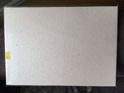 PREMIUM LIGHTWEIGHT WHITE HAMMER PAPER A4 SHEET x10 RIPPLE EMBOSSED 80gsm