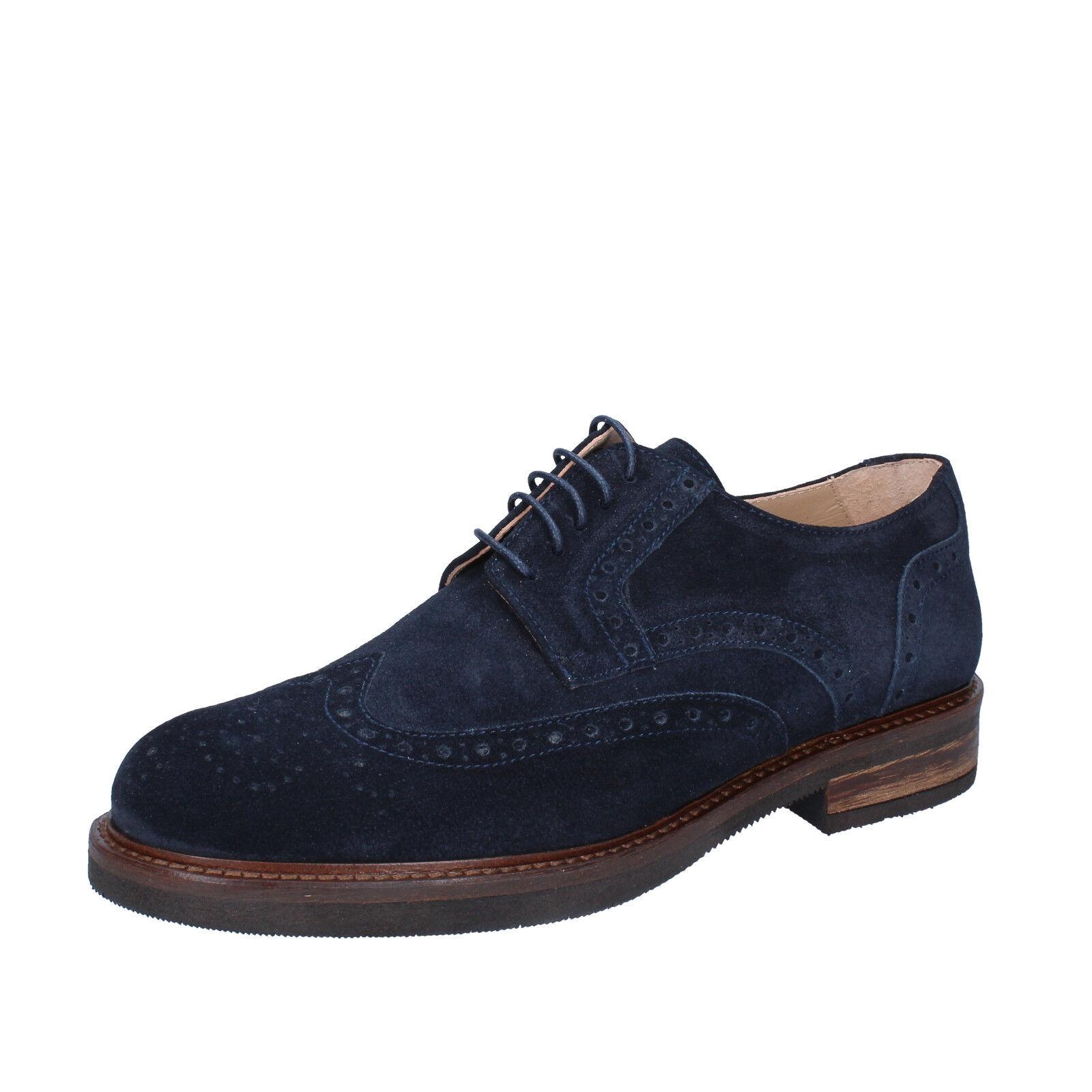Scarpe casual da uomo  Scarpe uomo FDF shoes 43 UE elegante blu camoscio bz342-e