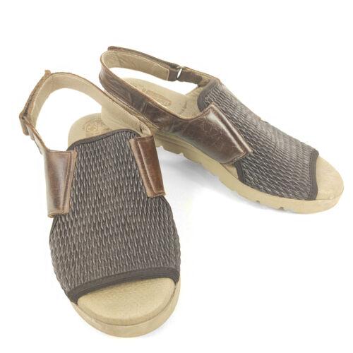 Worishofer Sandals Comfort Shoes Women's 6.5 Brown