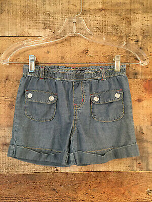 4 Kids Carters Little Girls Flap Pocket Chambray Shorts