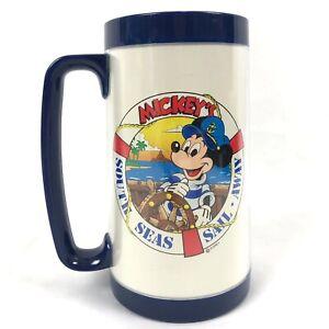 Vtg-Walt-Disney-World-Mickeys-South-Seas-Sail-Away-Thermo-Serv-Cup-Mug-Plastic