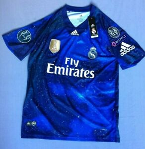 size 40 48a4d 90e78 Details about NEW Real Madrid Adidas EA Sports jersey #4 Sergio Ramos  Champions patches Medium
