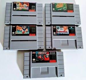 Lot-of-5-Authentic-Super-Nintendo-SNES-Sports-Games-Extra-Innings-Tennis-Etc