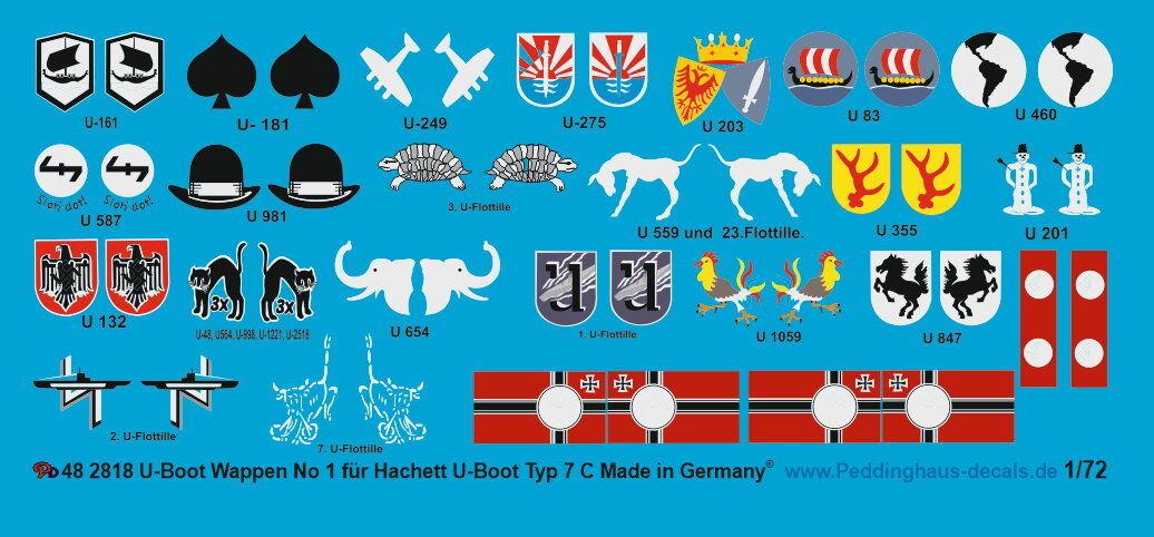 Peddinghaus 1 48 48 48 EP 2818 Barco de U ESCUDO ARMAS No1 para DAS Hachett tipo 7 e4ef45