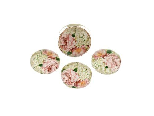 """10 mm 4 motivcabochons /""""vintage Roses/"""""""