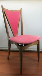 Outstanding Details About Pink Mid Century Modern Chair Wood Folding Chair Danish Design 1960 By Stakmore Dailytribune Chair Design For Home Dailytribuneorg