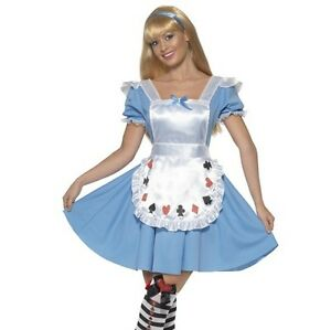Ladies Deck of Cards Alice in Wonderland Fancy Dress Costume Womens Outfit