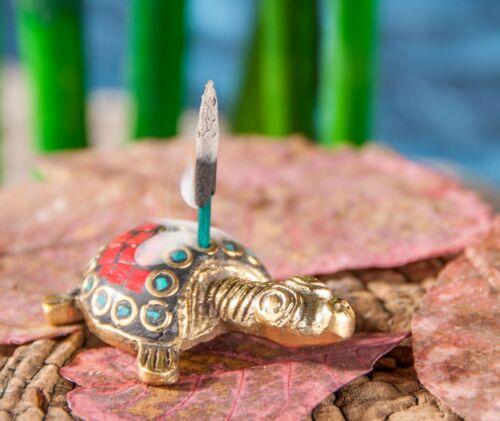 Räucherstäbchenhalter Tiere Messing mit Steinen verschiedene Tiere Räucherhalter
