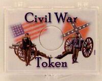 Civil War Soldiers - Token 2x3 Snap Lock Coin Holder, 3 Pack