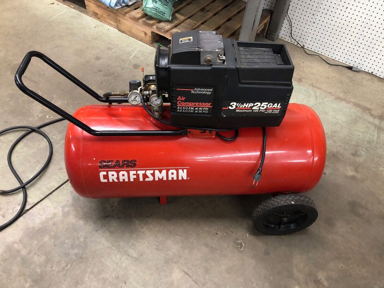 Sears Craftsman 919 155732 3 5hp 25 Gallon Air Compressor For Sale Online Ebay