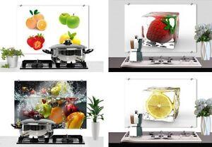 spritzschutz fliesenschild glas bilder frisches obst früchte küche