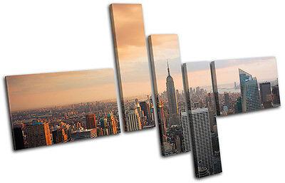 New York Skyline USA City MULTI CANVAS WALL ART Picture Print VA