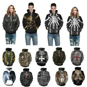 Men Women 3D Graphic Printed Sweatshirt Pullover Hoodie Sweater Jacket Coat Tops