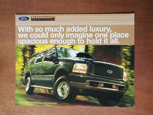 1998 Ford Excursion Full Color Sales Brochure Ebay