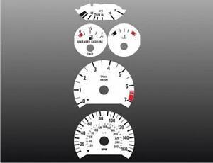 1992-1995-BMW-3-series-E36-Dash-Cluster-White-Face-Gauges-92-99
