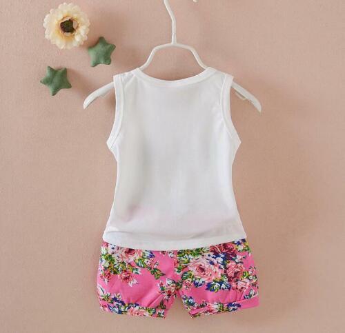 Toddler Kids Baby girls summer Outfits Clothes T-shirt /&short Pants 2PCS set dot