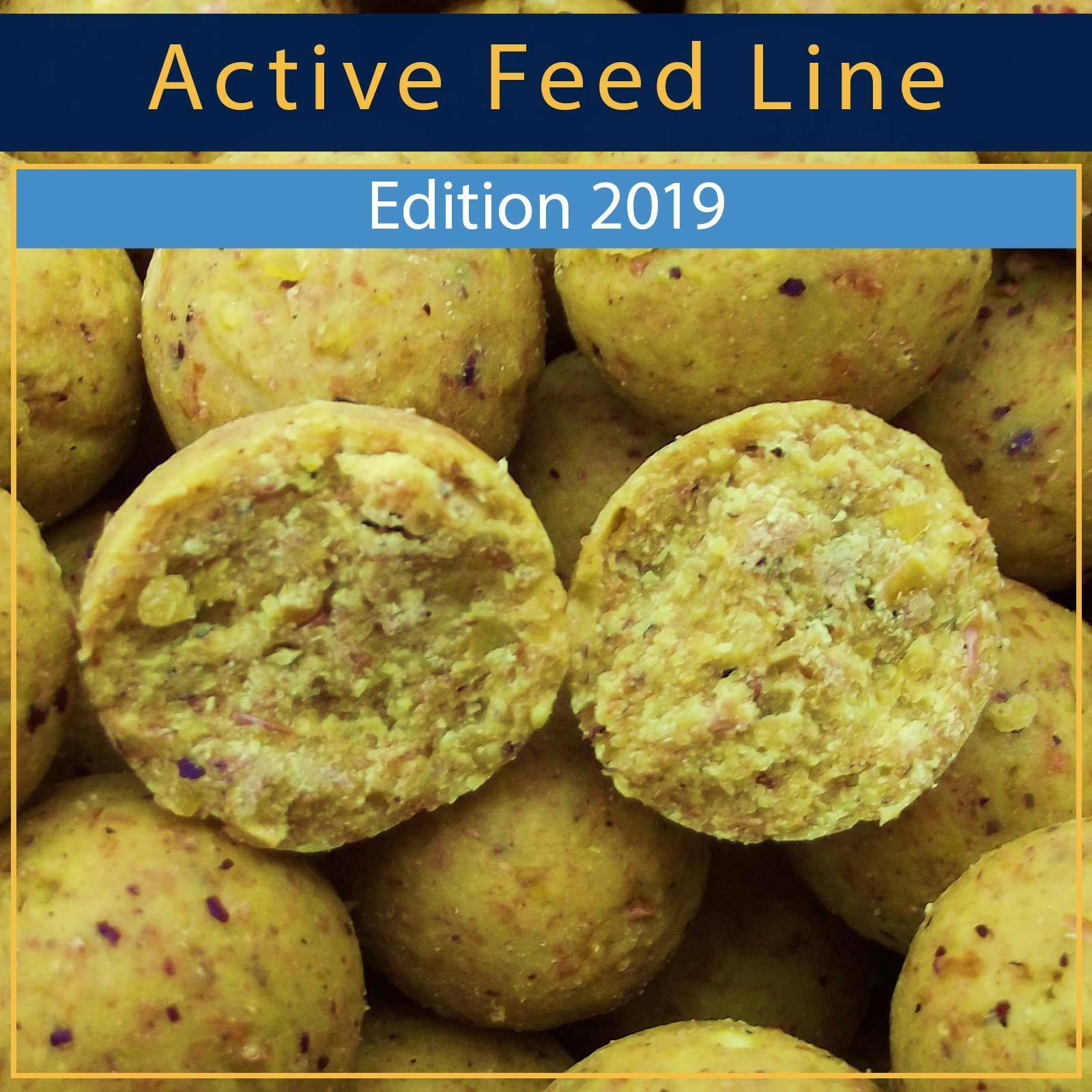 -- DEEP WATER BAITS BOILIES -- ACTIVE FEED LINE -- SCOPEX PINEAPPLE 20 KG --