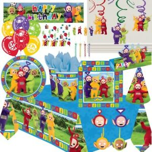 Teletubbies-Party-Supplies-Tableware-Decorations-Balloons-Invites-Party-Bags
