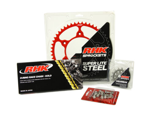 Honda CRF450R CRF450X 2014 2015 2016 O-Ring Chain Front Rear Sprocket Kit Red