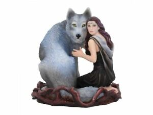 Soul-Bond-By-Anne-Stokes-Maiden-amp-Wolf-Figurine-Nemesis-Now-Wicca