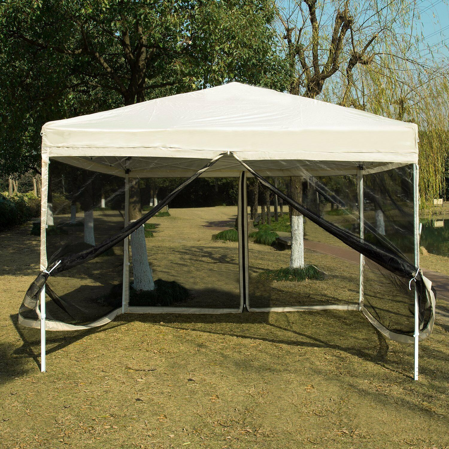 VIVOHOME  10'x10' Instant Pop up Canopy Folding Party Tent Outdoor Mesh Sidewalls  promotional items