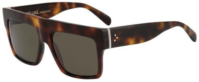 de8675ba83 RARE New POLARIZED Genuine CELINE ZZ-Top Tortoise Brown Sunglasses CL41756  05LUC