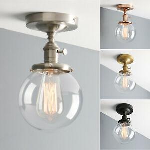 Globe Semi Flush Mount Ceiling Lamp