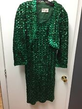 Vintage Lilli Diamond Sequin Dress With Jacket