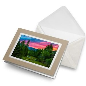 Greetings-Card-Biege-Mountain-Forest-Sunset-View-21911