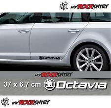 Skoda Octavia 2 x  SKODA Aufkleber Autoaufkleber Auto Tuning Sticker Aufkleber m