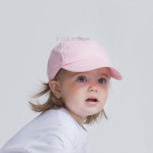 Baby Kleinkind Kinder Schirm Baseball Sommer Kappe Hut Jungen Mädchen Rosa Weiß