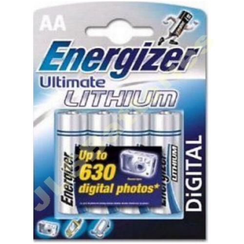 4 pk Energizer De Litio Aa Ultimate fechado 2023 L91 LR6
