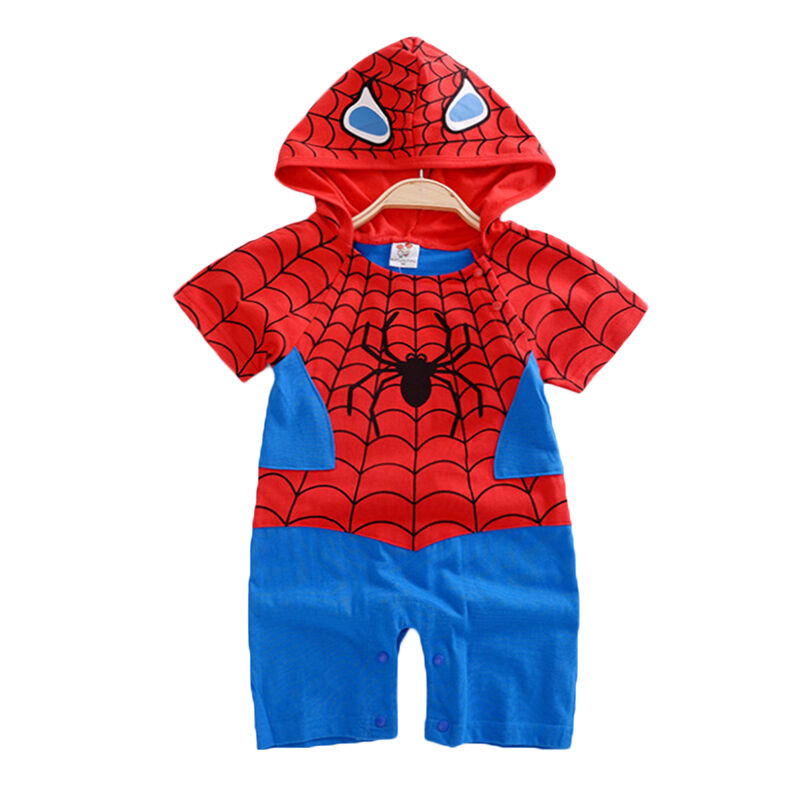 Kleinkinder Jungen Mädchen Baby Kinder Superhero Strampler Overall Romper Outfit