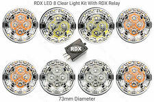 8 RDX V8/TD/200Tdi ALL CLEAR LED 73mm Light/lamps Kit Land Rover 1983 to 1994