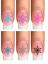 Indexbild 2 - Nail Tattoo Nail Art Schneeflocken Eiskristalle Winter Weihnachten + Glitter