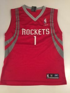best sneakers a8014 6e535 Tracy McGrady Rockets Number 1 Jersey Red Youth Medium (10 ...