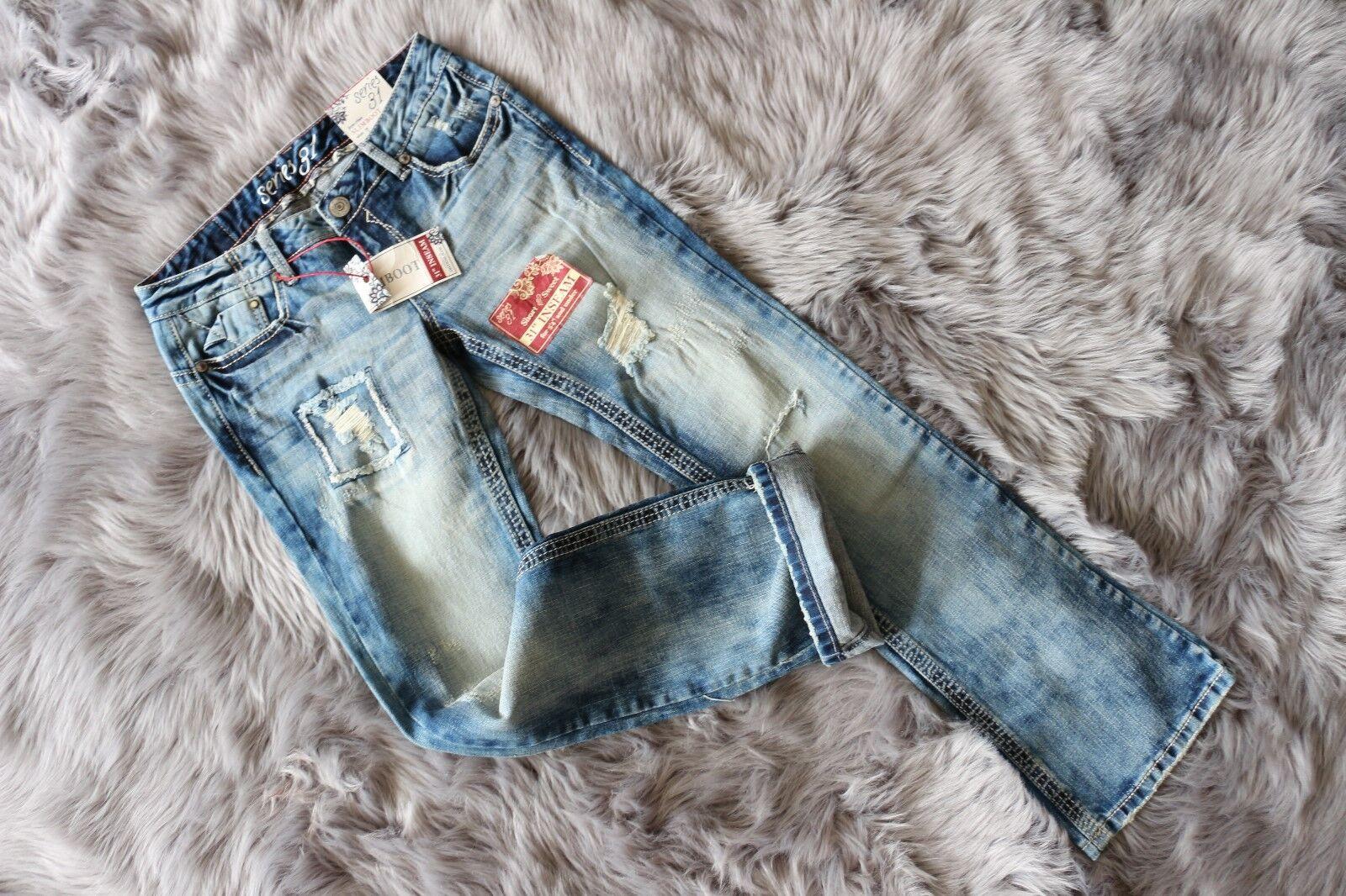 New Series 31 Short&Sweet Women Jeans  bluee Low-Rise Slim Boot W29