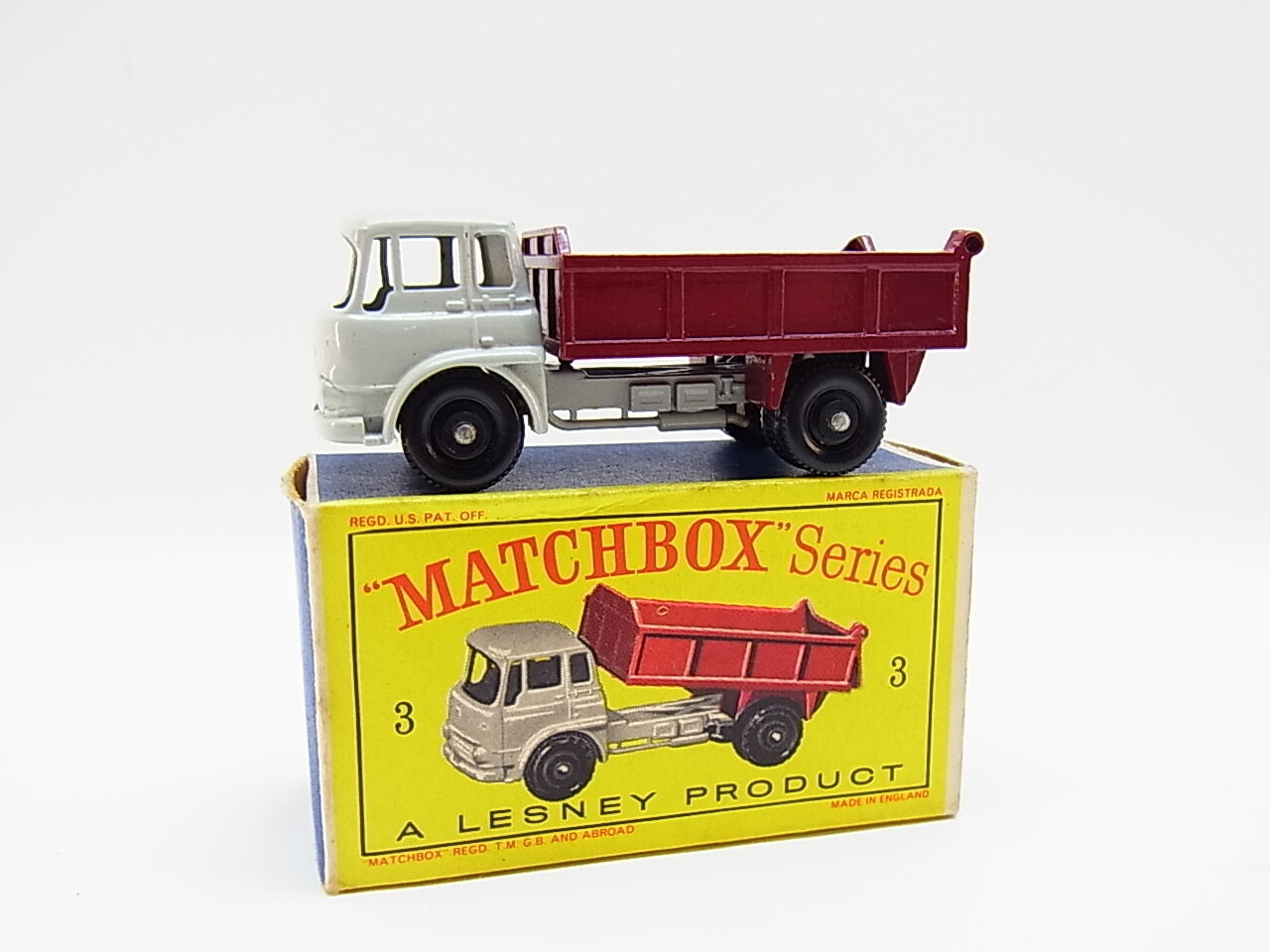 Lot 33331   MATCHBOX 3 B Bedford 7,5 ton Tipper Modello come nuovo con  D  - BOX