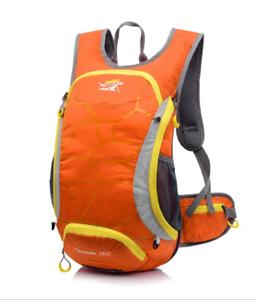 15L Cycling Bike Backpack Shoulders Bag Waterproof Hiking Rucksack Helmet Net