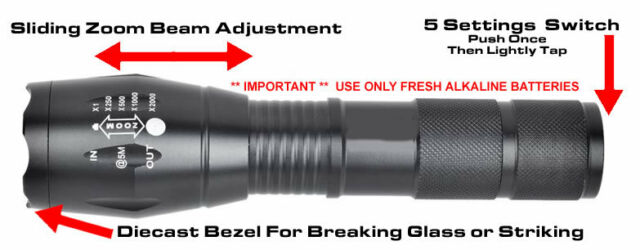 REACTOR EXTREME BLACK OP X700 Flashlight USA SELLER IN STOCK FREE SHIPPING